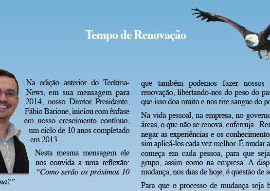 TeckmaNews 2014.04 Guerretta Tempo de Renova